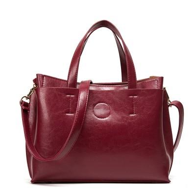 2019 Ladies Hand Bags Famous Brand Bags Logo Handbags Women Fashion Black Leather pochette Shoulder Bag Women Big Bags Purse