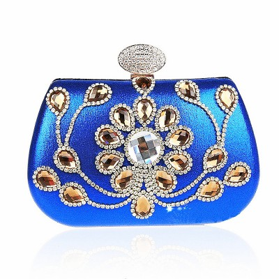 Vintage Women Luxury Party Bags Diamond Evening Clutch Bag Shoulder Chain Bags Crystal Beaded Clutch Purses Pouch Bag JXY237
