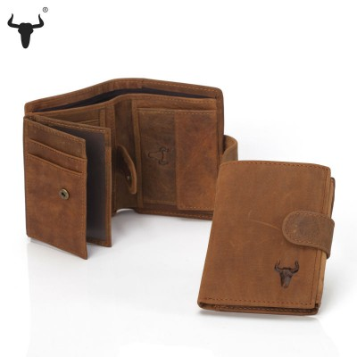 Wallet Men Leather Genuine Mens Vintage Cowhide Leather Big Capacity Short Purse wallet With Coin Pocket mens wallet with zipper compartment