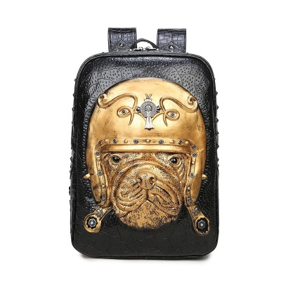 3D Leather Animal Women Backpack 2019 Gothic Steampunk Unique backpack cool bag steampunk fashion Rivets Backpack Bag for Teenage Girls Fashion Travel Laptop Bags