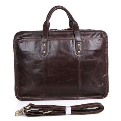 Men/'s Geniune Leather Briefcase Business Cases Shoulder Messenger Laptop Bag