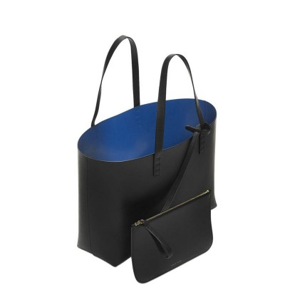 Mansur Gavriel Women Shopper Large Tote Bag Black Shoulder Hand Bag With Small Mini Purse Designer Handbag Genuine Real Leather