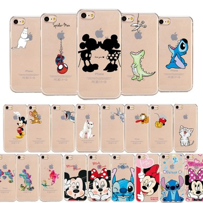 Cartoon Phone Case For iPhone Soft Cute Mickey Minnie Mouse iPhone XS MAX XR  X 7 8 Plus 6 6S Plus 5 SE Case Coque Fundas