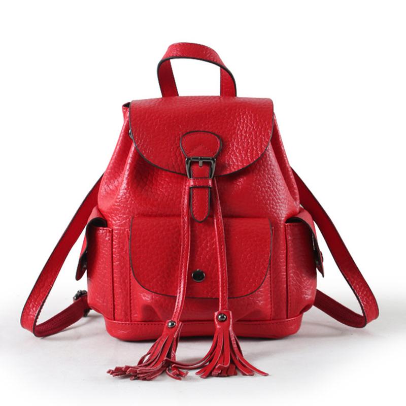 e03f5eae4b71 Backpacks for Girls 2019 Women Leather Backpack Genuine Leather ...