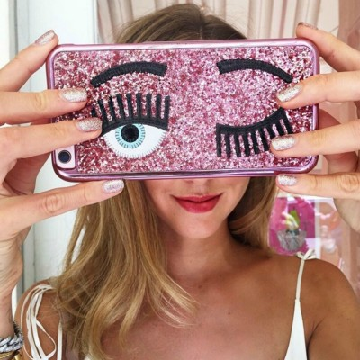 Brand Fashion Brand 3D big eye eyelashes Plating phone Case for iPhone 6 6s 7 8 plus 10 X cover