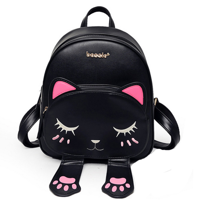 e3adb0dc1d4 ... Backpacks Funny Quality Pu Leather Fashion Women Shoulder Bag Travel  Back Pack Sac XA531B. Image 1