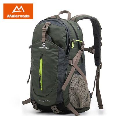 Maleroads Brand 40L Women&Men Travel Backpack Masculina Camp Climb Mochilas Waterproof Hikers Backpack Duffel Laptop Bag Pack