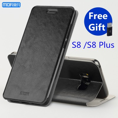 MOFi Case for samsung galaxy s8 case cover for samsung s8 plus case flip kickstand capa coque funda Pu leather + TPU