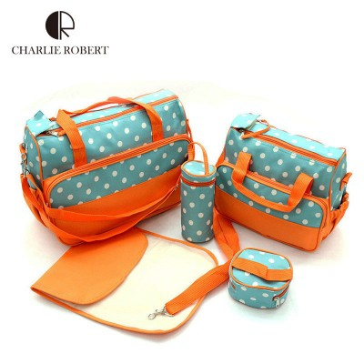 5PCS New Baby Diaper Bag Large Fashion Nappy Bags For Mommy Multifunctional Maternity Stroller Bag Baby Changing Handbag HK799