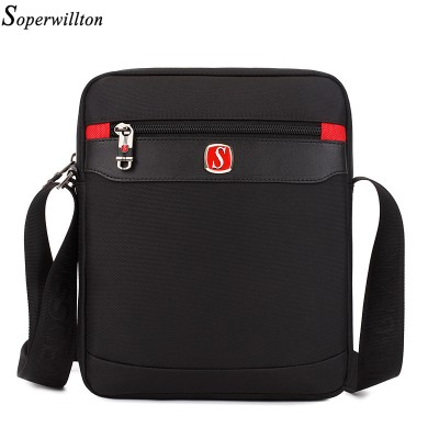 Soperwillton New 2019 Hot Sale Men's Bag Fashion Oxford Man Messenger Bags Ipad Black Shoulder Crossbody Bag Travel Male Bags 87