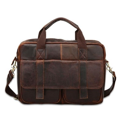 Soft Maletin Hombre Real Cowhide Leather Men Bags Vintage Handbags Briefcase Laptop Shoulder Cross Body Bag Business Tote