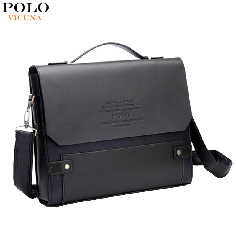 2a2e12375f VICUNA POLO Fashion Rivet Leather Messenger Bags For Men ...