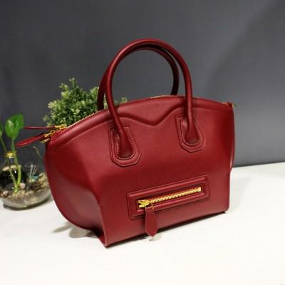 2019 New Luxury High-grade Vintage Casual Genuine Leather Bag Women Handbag Smiley Shell Bag Shoulder Messenger Bag