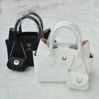 ARTMOMO autumn and winter blackwhite sailor moon lunaartemis hand bag samantha vega handbag cat ear shoulder bag messenger bag