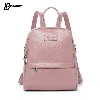 Backpacks for Girls Fashion Genuine Leather Backpack Women Bags Preppy Style Backpack Girls School Bags Zipper Shoulder Women's Back Pack