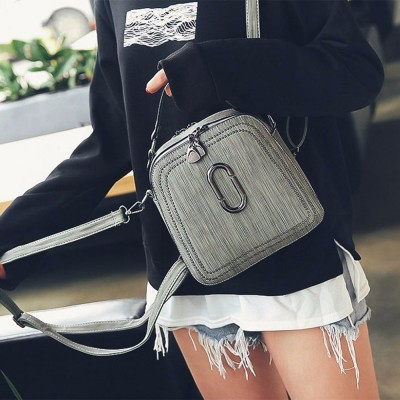 2019 new women female rivet backpack shoulder bag womens messenger Mini small backpack for girls College wind pu leather