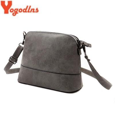 2017 New fashion women's messenger bag scrub shell bag Nubuck Leather small bags over the shoulder womens purses and handbags