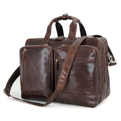 2019 Promotion Male Briefcases Natural Cow Leather Laptop 17inch Business Bags Men Large Handbags Travel Messenger Shoulder Bag