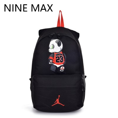 High Quality 23 Unisex Canvas Backpack Utility Lovers Bag Mochilas Laptop Rucksack  AJ Panda Fashion School Bags for Teenagers
