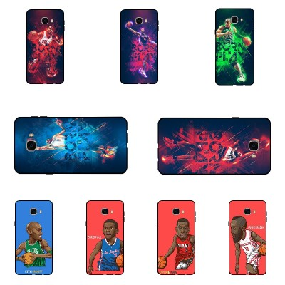 Samsung Galaxy c7 Phone Case Shell Ultra Thin Black Soft TPU Cover For Samsung Galaxy C7000 DIY Phone Case Basketball Pattern Conque