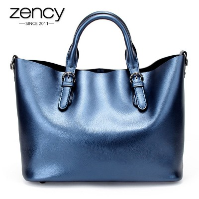 Zency Brand Fashion luxury handbags women large capacity casual bag ladies Genuine Leather shoulder tote bags bolsos feminina