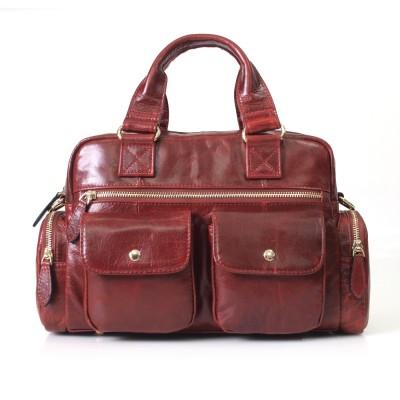 New Arrival Genuine Leather Womens Designer Handbags Ladies Brown Cowhide Tote Bag Satchel Briefcase Women Messenger Bags