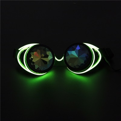 Steampunk Goggles Welding Cyber Illuminated Punk Goggles Retro Gothic kaleidoscope Colorful Lens Cosplay Eyewear