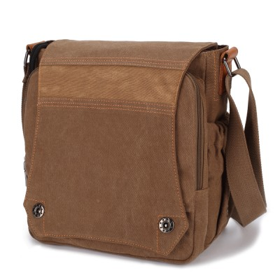 2019 New Men Canvas Bag Vintage Messenger Bag Brand Business Handbags Casual Male Satchel Travel Shoulder Bag Men Crossbody Bag