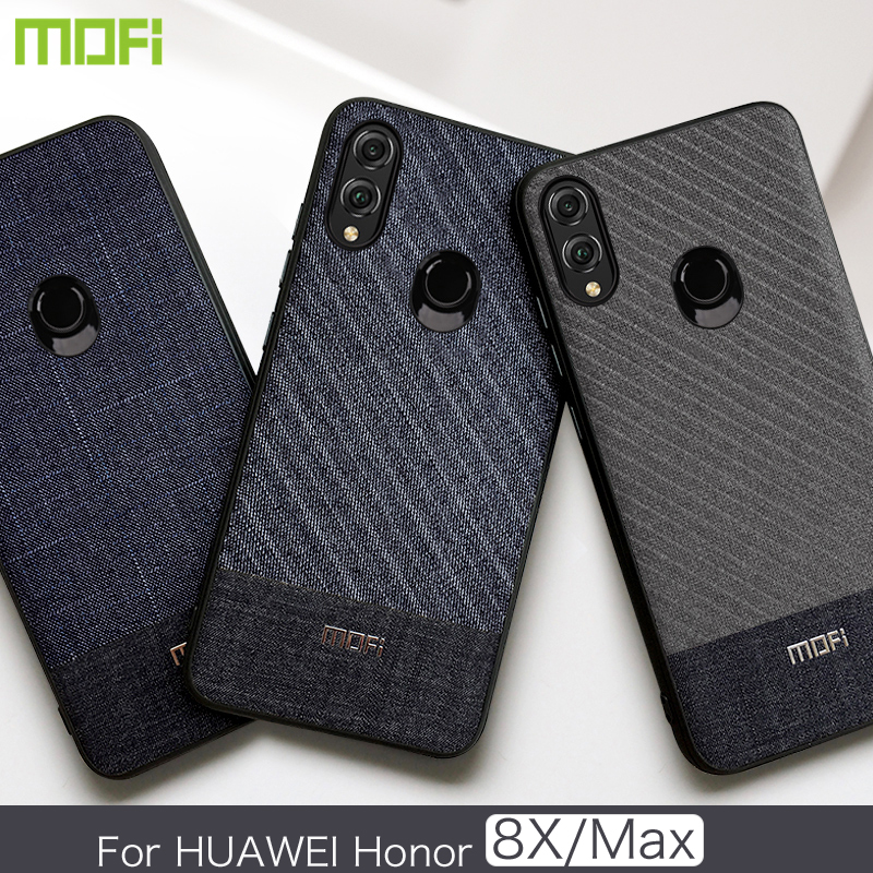 Huawei Honor 8X Max Case Mofi For Huawei Honor 8X Case Back Cover Business Gentleman Fabric Phone Case for Honor 8X Honor 8X Max