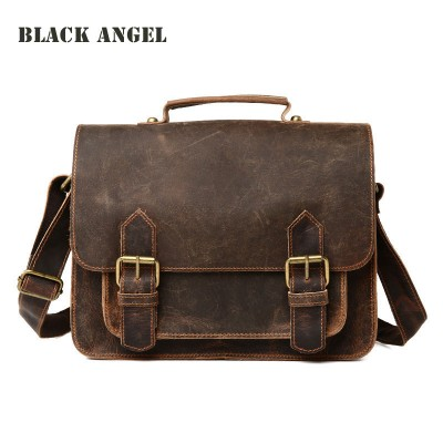 Genuine Leather men messenger bags casual men cow leather briefcase fashion designer male crossbody shoulder bags