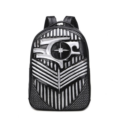 Retro Gothic Steampunk Unique backpack cool bag steampunk fashion Backpacks 2019 Hip-Hop PU Leather Mens Backpacks Vintage Punk Women Teenage Backpacks Casual Teenager Backpack