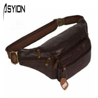 2019 new style!men Multifunction travel bags genuine leather funny chest pack men waist pack hiqh quality men waist bags DB4010