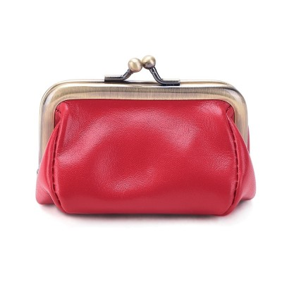 Genuine Leather Small Wallet Ladies Original Coin Purse Metal Hasp Money Coin Purse Women Men Wallet Bag Card package