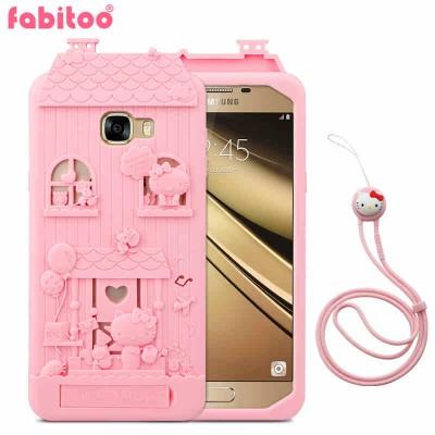 Phone Case For Samsung Galaxy C7 Case Silicon Cover 3D Cute Cartoon Silicone Phone Cases For Samsung Galaxy C7 Phone Case Cover