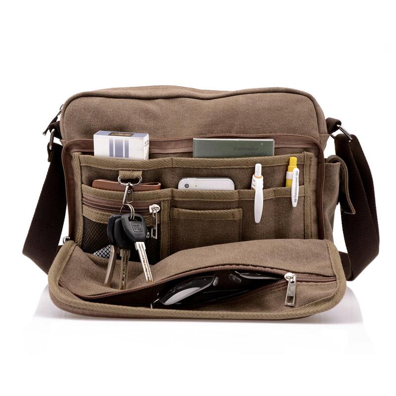 735147c21757 High Quality Men Canvas Bag Casual Travel Men s Crossbody Bag Luxury Men  Messenger Bags