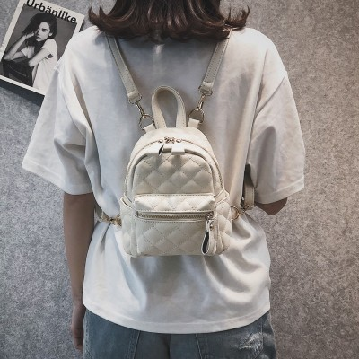 Women Backpack New Fashion Casual PU Leather Female backpack for teenage girls school bag solid Cute Mini Small backpack