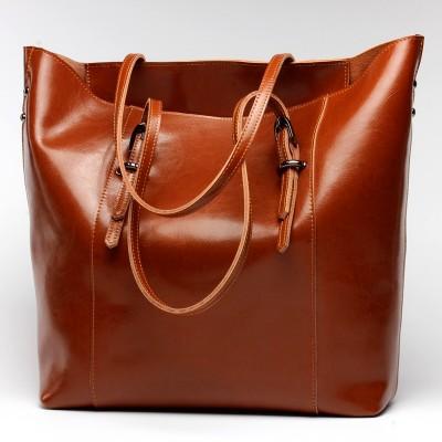 Women Handbag Genuine Leather Shoulder Bag Female Bags Cowhide portable shopping bag Vintage Large Capacity Tote Bolsos