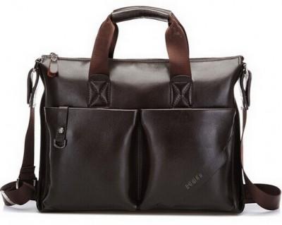 2015 Casual Men's Business Briefcase PU Leather Shoulder Bags Men Crossbody Messenger Bags Designer Brand Laptop Handbag BS1002