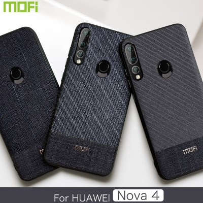 Huawei Nova 4 Case Back Cover Business Handcraft Gentleman Fabric Phone Case for Huawei Nova 4
