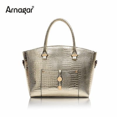 Arnagar Women Alligator Leather Handbags Famous Brand bag Women's Tote Bags Rivets Shoulder Crossbody Bags Crocodile Ladies Bags