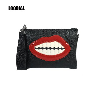 Sexy Bags Loodial womens bag clutch purse sexy lips bag fashion shoulder messenger bags