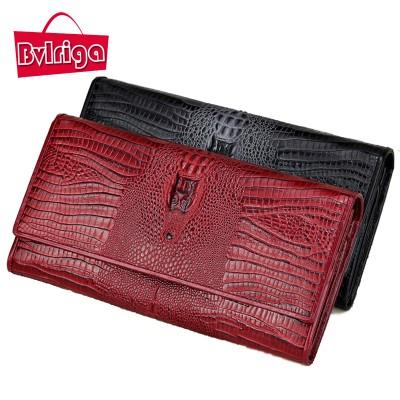 BVLRIGA Womens wallets and purses designer wallets famous brand women wallet famous brand clutch bag Crocodile head dollar price