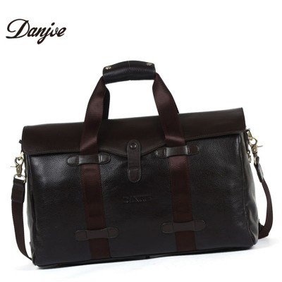 DANJUE Genuine Leather Fashion Handbag Large Capacity Laptop Bag Can Fit 15 Inches Laptop Men Briefcase Leisure Men Travel Bags