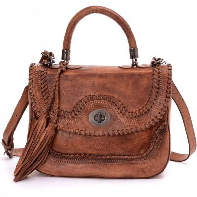 Brand Designer Genuine Vintage Women Cross-body Bags Ladies Tote Real Leather Male Business Messenger Bags OL Tassel Handbags