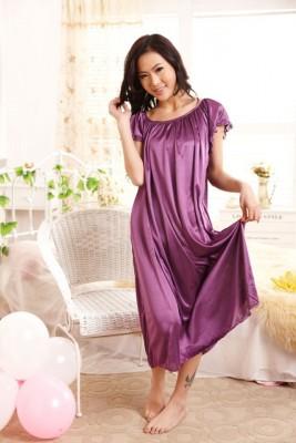 2014 New Arrival Sleepwear,Fashion Home Apparel Round Collar Female Silk Nightgowns,Hot Sale Lace Short Sleeves Women Nightwear