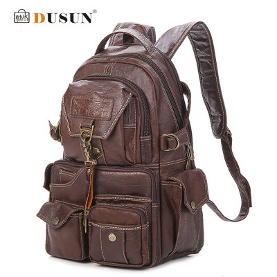 2017 The New Large Capacity PVC Material College Vintage Shoulder Women's Backpack Students Travel Computer Leather Bag Mochilas