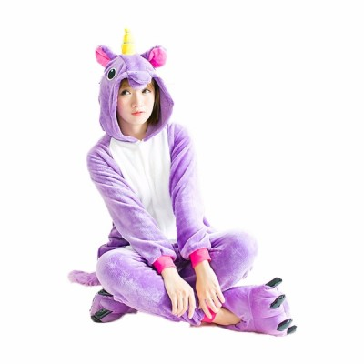 Winter Unisex Unicorn Pajamas Kigurumi Animal Star Pyjamas women Adult onesies Cosplay Flannel stitch Onesie Sleepwear Wholesale