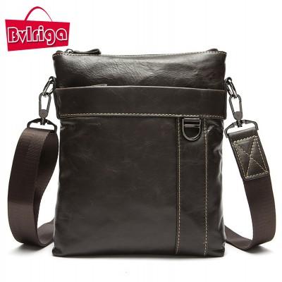 BVLRIGA Genuine leather bag Men bag travel bag men s briefcase vintage men shoulder  messenger bags famous d88f42af826bc