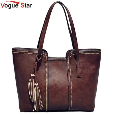 Vogue Star 2019 New Women Messenger Bags With Tassel Designers Leather Handbag Large Capacity Women Bag Shoulder Tote Bag LS241