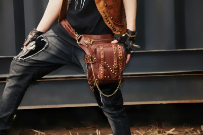 Custom Steampunk Thigh Waist Belt Bag Vintage Steampunk Leg Bag Shoulder Crossbody Multifunctional Bag